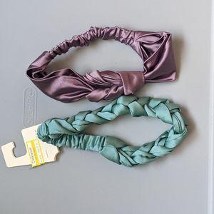 Satin headband set